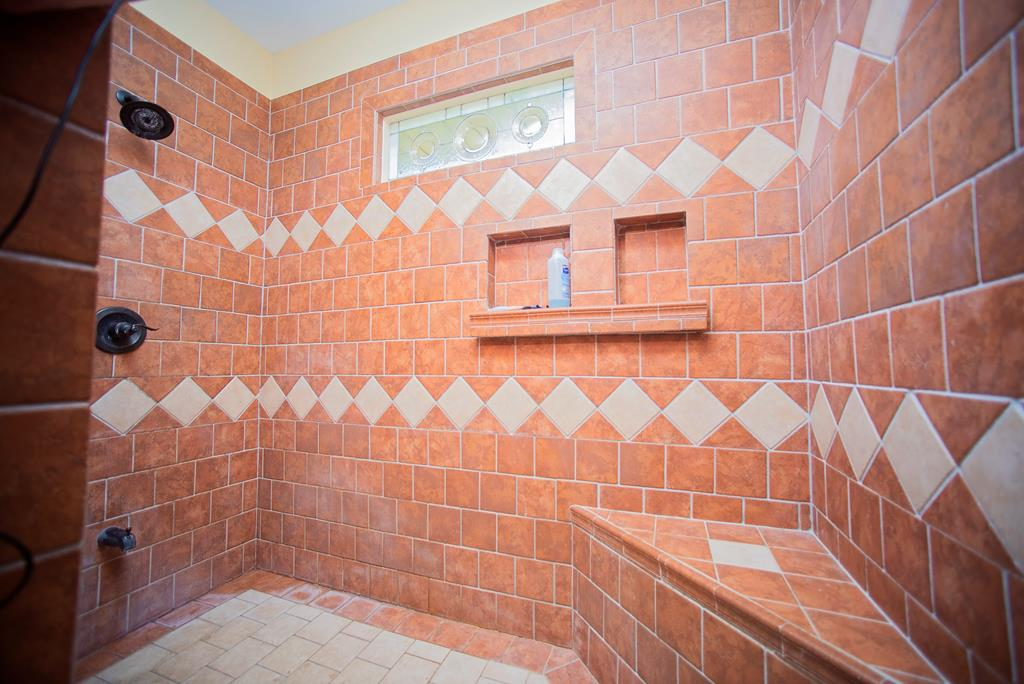 Large Master Tiled Shower